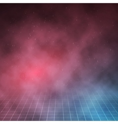 1980 retro neon poster outer space background vector