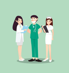 a group of professions about medical vector image
