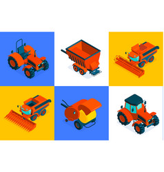 Agricultural isometric design concept vector