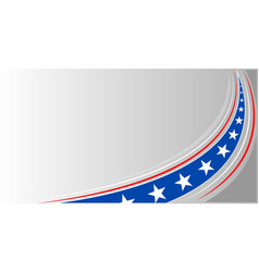 american abstract flag banner background vector image