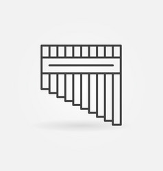 Antara musical instrument icon in outline vector