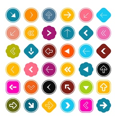 Arrows Set in Circles vector image