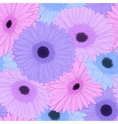 background with gerbera flower Hand-drawn contour vector image