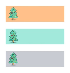 Banners with christmas tree vector