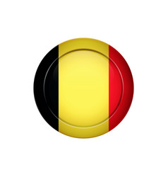 belgian flag on the round button vector image