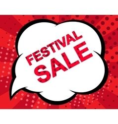 Big winter sale poster with FESTIVAL SALE text vector image