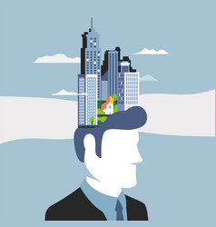 business concept employee potential and creativity vector image
