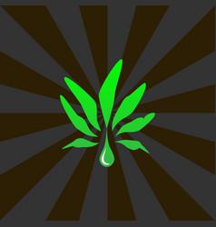 cannabis oil - symbol vector image
