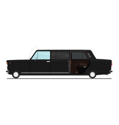 cartoon stretch limo vector image