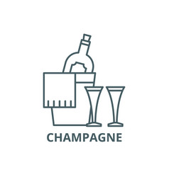champagne line icon champagne outline vector image