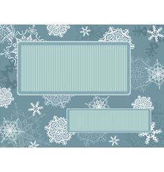 Christmas vintage frame with snowflakes vector image vector image