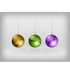 christmass three ball vector image