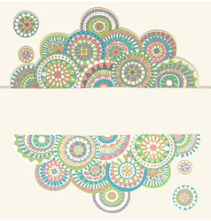 circles doodle color vector image