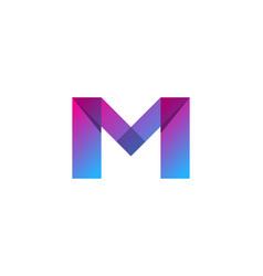 Color letter m logo icon design vector