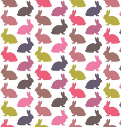 Colorful rabbit pattern vector image