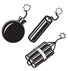 comic style bomb dynamite sticks design element vector image
