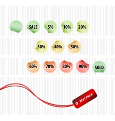concept of successful sales vector image