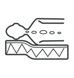 correct sleeping position on orthopedic mattress vector image