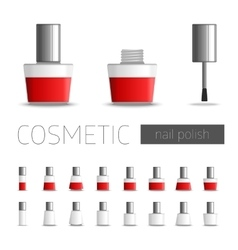 Cosmetic nail polish vector