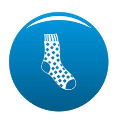 Cotton sock icon blue vector
