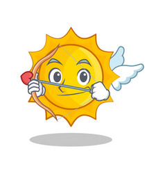 cupid cute sun character cartoon vector image