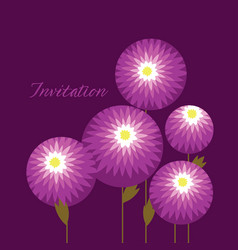 decorative chrysanthemum flowers design element vector image