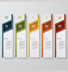 design clean number banners template vector image