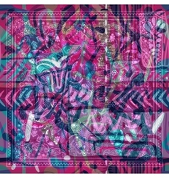 Design for square pocket shawl textile Abstract vector