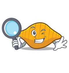 Detective conchiglie pasta character cartoon vector