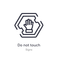 Do not touch outline icon isolated line from vector