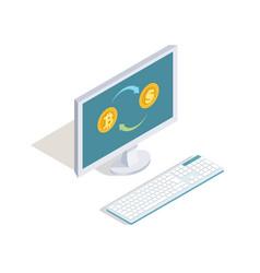 Exchange dollars for bitcoins online vector