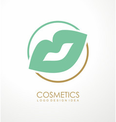 fashion or makeup products logo design vector image