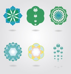 Floral mini Mandalas set vector image