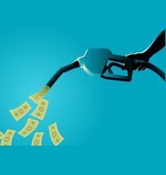 fuel pump pouring money vector image