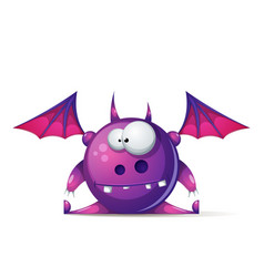 funny cute cartoon monster characters vector image