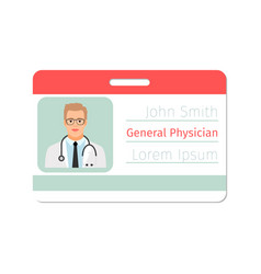 General physician medical specialist badge vector
