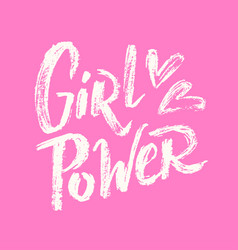 Girl power lettering 02 vector