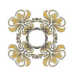 golden ornate decor heraldry floral image vector image