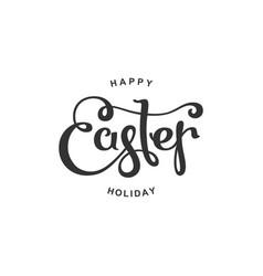 happy easter emblem vector image