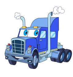 heavy semi truck vector image
