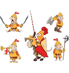 Humor cartoon knights vector