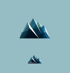 ice mountains crystal climbing logo travel vector image