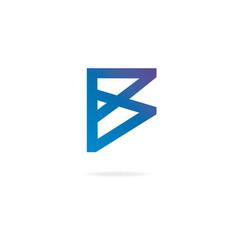 Letter b logo design template elements vector
