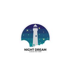 Light house logo template vector