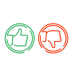 like and dislike icon vector image