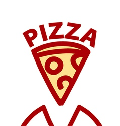 Logo contour slice of pizza vector