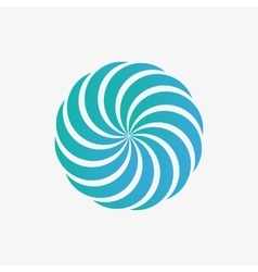logo design element Abstract whirl swirl vector image