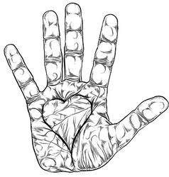 Love hand vector