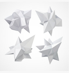 Low polygon geometry shape vector