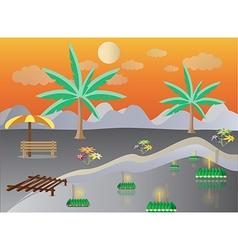 Loy Krathong in Lake landscape vector